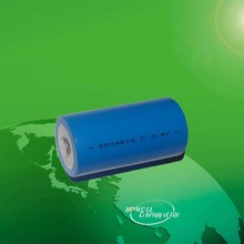 ER34615 3.6V 19000mAh lisocl2 cylindrical lithium dry cell Non-rechargeable lithium battery