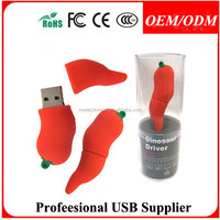 2015 alibaba supplier customized Vegetable shaped PVC USB Flash with low cost for business promotional