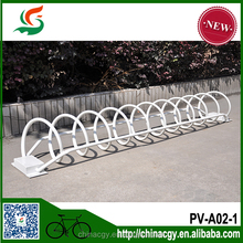 Powder coated steel bike parking rack outdoor metal supermarket bicycle parking rack