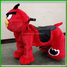 CE approved fairground plush wholesale kids battery operated plush animals/animal electric scooters