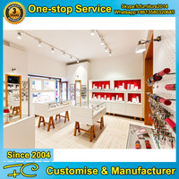 Unique glass store jewelry display showcase for store fixture manufacturer China