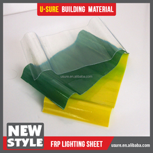 bamboo roofing sheets / transparent plastic glass sheet for balcony roof cover / fiberglass sandwich panel