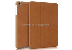 Smart Pu for Ipad Mini Smart Cover Slim Magnetic Pu Leather Case with Wake/ Sleep function HH-IPM04-2