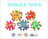 2015 Popular TPR flashing Big eyes snow puffer ball Fluffy kid puffer toy