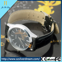 2014 Cheapest Ultra-thin Leisurely Leather Watch Factory