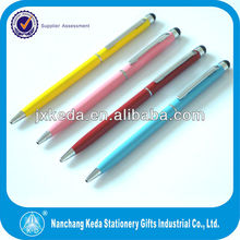 Capacitive Metal Cross Slim tablet stylus with ball pen
