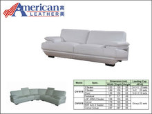 HOME FURNITURE LIVING ROOM SOFA SUITES FOR CN-1018 WHITE LEATHER COUCH