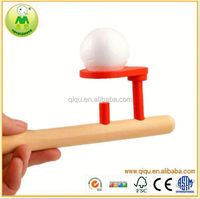 promotional wooden toys mouth blowing ball floating kids soft ball