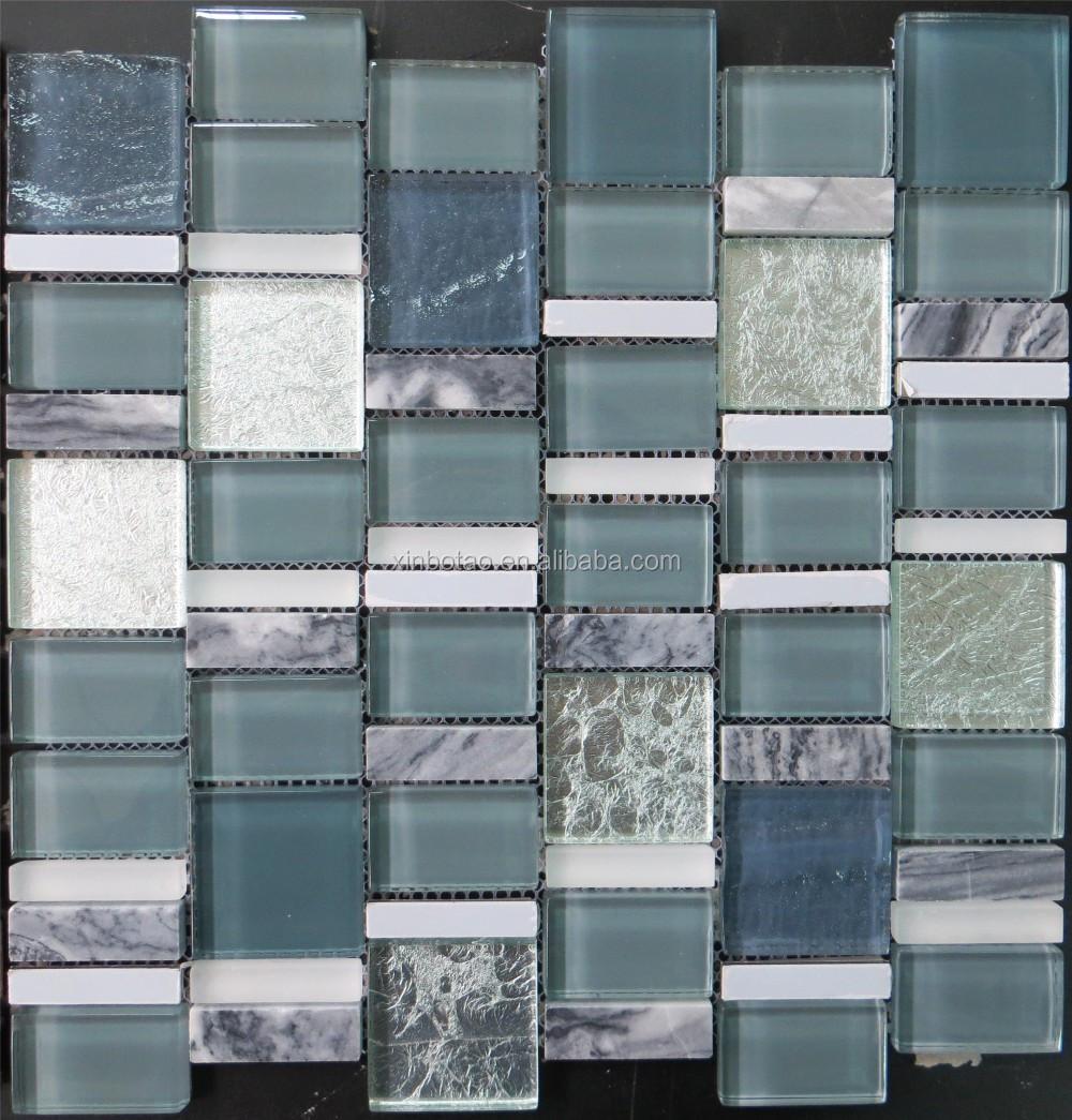 Badkamer Keuken Zilveren ontwerp Crystal Glasmozaïek, steen ...