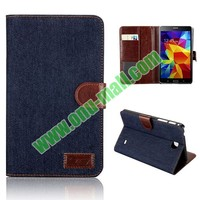 Jeans Cloth Design Leather Case for Samsung Galaxy Tab 4 7.0 T230
