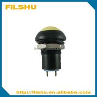 12mm latching waterproof push button switch