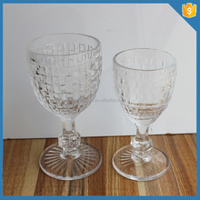 hot selling crystal knit pattern cheap glass goblet