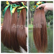 Original Brazilian Human Hair Remy Brown Straight Hair Wholesale 6A Supreme Hair