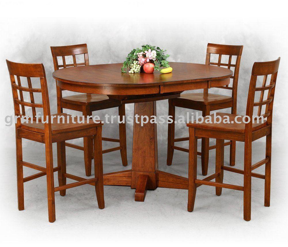 Muebles muebles de madera comedor de comedor de for Muebles para pub