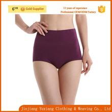 good quality solid color high waist shaper women seamless panties photos