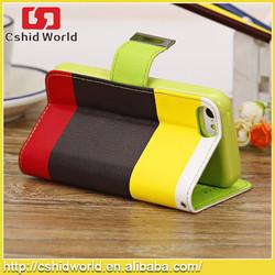 Fashion Rainbow pattern matt soft stand case for iphone5 5s