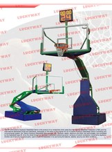 LKY2008 Robot hydraulic system moveable basketball stand/basketball post