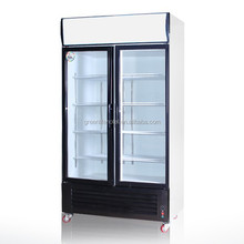 Guangzhou LVNI Swing Glass Door White Merchandising Freezer/flower display cooler