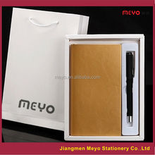 Warehouse PU Leather Notebook Pen High School 2pcs Gift Item,Office gift set,Business Gift set
