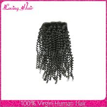 Grade 7A unprocessed virgin human hair brazilian lace closure brazilian kinky curly hair closure brazilian hair closure