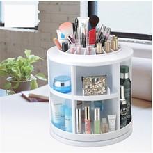 M016 360 degree rotating 2015 fashion wholesale cosmetic storage box/makeup case
