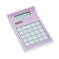 Purple Crystal Bling Bling Desk Calculator