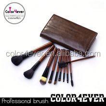 2013 Best Professional 10pcs Wooden Handle Nylon & Goat Hair Professional Makeup Brush Set