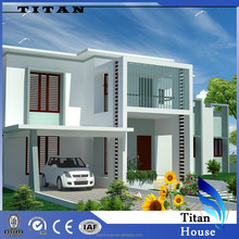 Flat Roof Light Steel House Designs and Plans for Indian