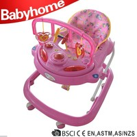 EN1273 certificate car shape big baby walker with safety belt