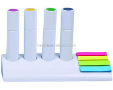 4 highlighter pen and pad set,promotion memo sets