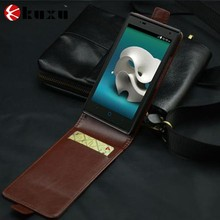 Little size leather case for flip phones with wallet function