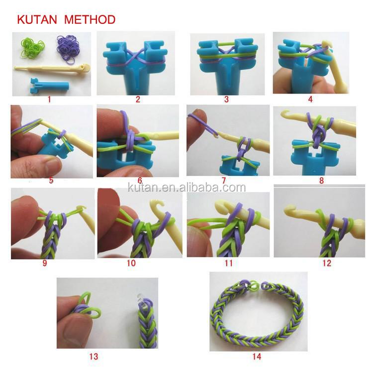 Схема плетения браслетов резинками фото