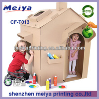 Hot paper house toys for living room furniture, cardboard house for children,children toy