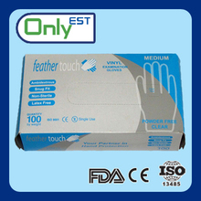 Fits either hands disposable pre-powder vinyl gloves examination
