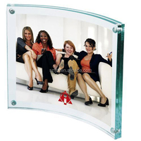 4x6 inch clear crystal acrylic photo frame with magnets for sale to be number one