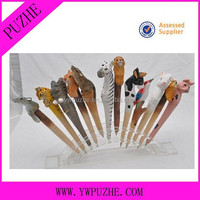 Wooden Animal Ballpoint Pen/wood Pen/wood Burning Pen