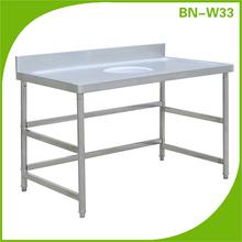 eficiente y duradero de acero inoxidable mesas de cocina