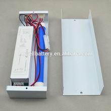 Emergency lamp 12V backup battery pack system with output brightness 30%