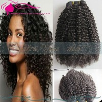 100% unprocessed Brazilian kinky curly virgin hair extensions 100g 3Pcs