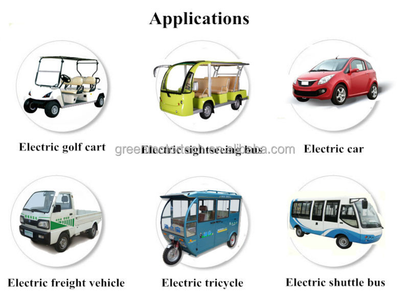 reliable 2 seats electric golf car motors 3kw 48v AC DC
