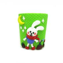 Fimo clay animal penholder kids station toys