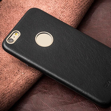 Extreme Slim Classic Best Quality Black Genuine Leather Case For Iphone 6