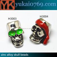 Free sample metal skull beads/cheap skull beads for sale/paracord skull beads