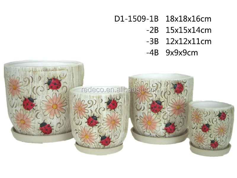 Ceramic Mini Flower Plant Pot Wholesale With Saucer Buy