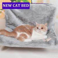 Cute cat beds luxury fleece cover metal frame cat hammock bed