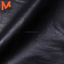 black color pig nappa leather real pig skin for garment and bags