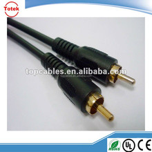 Singe RCA Male to Male Shielded Audio Extension Cable