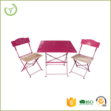 Cheap price metal table and metal chairs set garden outdoor furniture