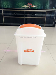 100% new material 30L green top dustbin husehold waste bin recycle cans