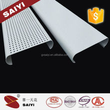 Alibaba wholesale Aluminum Alloy Blade Shape Perforated Strip Ceiling